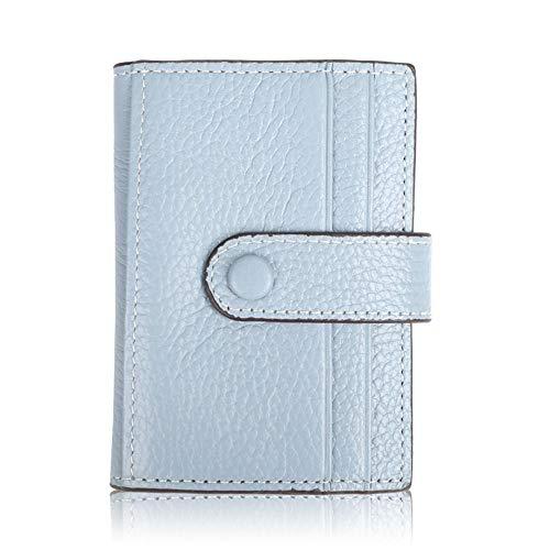 Relddd Damen-Geldbörse aus Leder, mit Kies Kurze Kuh-Geldbörse, schwarz -