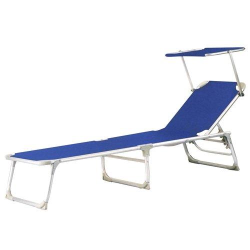 Papillon Chaise longue Thirassía en aluminium Bleu