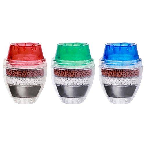 Everpert - Filtro de agua para grifo de carbón activado, filtro limpiador y purificador