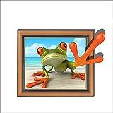 Fashion Wall Stickers-Wandtattoos 3D (Frosch) Tapete Schlafzimmer Wohnzimmer TV Sofa Hintergrund HD selbstklebendes Papier 58 * 74.7
