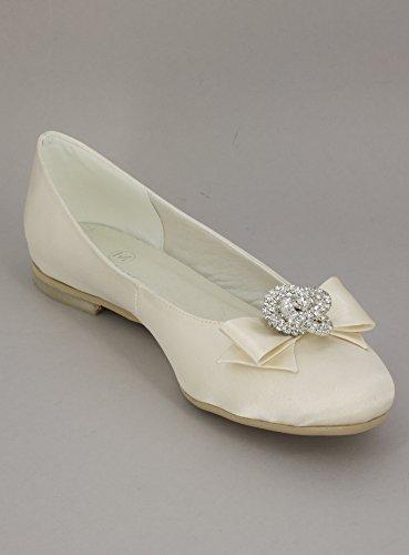 Ballerina matrimonio BIANCA o avorio fiocco e gioiello–Prodotto stocké e svelta da la Francia Ivoire - Ecru