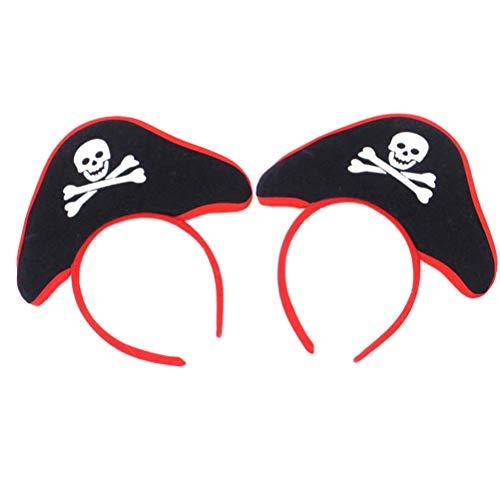 Toyvian Skull Hat Haarband Kopfschmuck für Kinder Halloween Kostüm Party 2 Stück