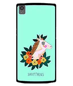 PrintVisa Designer Back Case Cover for OnePlus X :: One Plus X (Astrology Zodiac Leaf Flower Horoscope Raashi Sagittarius)
