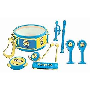 Despicable Me Me-K360DES Lexibook Universal GRU, Mi Vilano Favorito Minions, Conjunto Musicales, 7 Instrumentos (Tambor, Maracas, Castañeta, Armónica, Grabadora, Trompeta, Pandereta), Juguete Conveniente para Llevar, Amarillo/Azul, K360DES, Color K8000