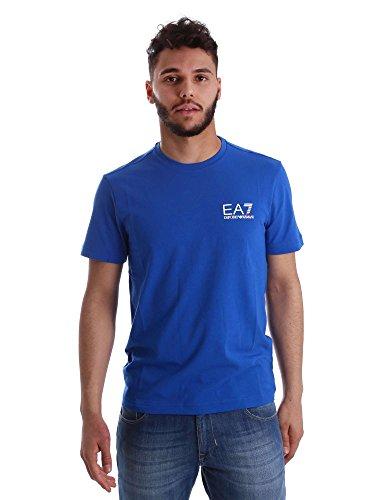 Emporio Armani Herren EA7-Logo-T-Shirt, Blau Blau