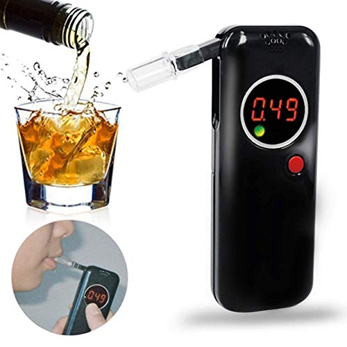 BD.Y Gute Qualität Atemalkohol-Prüfvorrichtung, Halbleiter-Sensor-Digital LCD Polizei-Alkohol-Prüfvorrichtung mit 6 Mundstücken und 1 Stoffbeutel
