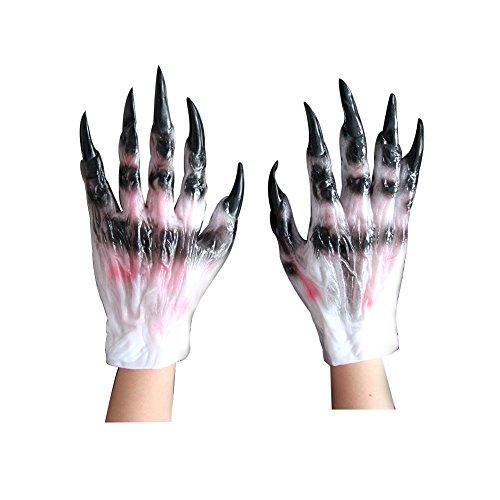 Bello Luna Monster Wolf Paws Handschuhe Full Finger Halloween Stützen Mascara (Erwachsene Für Kostüme Bigfoot)