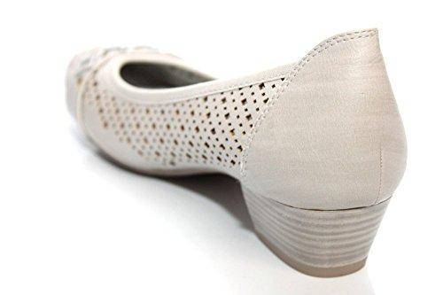 Marco Tozzi da Donna Navy estate tacco basso Tribunali pompe scarpe taglia UK 3-9 Grau