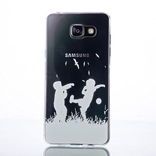 Galaxy A7 (2016) Hülle, SainCat Silikon Hülle Tasche Handyhülle [Kratzfeste, Scratch-Resistant] TPU Gel Bumper Case Weiches Transparentes Silikon Schutzhülle Crystal Kirstall Clear Case Durchsichtig M Schwarze Blumen