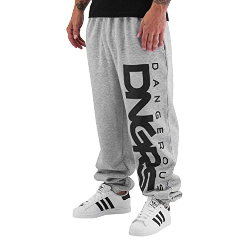 Dangerous DNGRS Herren Jogging Hose Baggy Sweat Pants Classic Sporthose  H2455, Farben Grau, Größe Hosen XL d9ed734372
