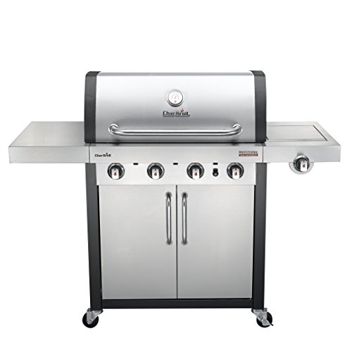 Char-Broil Professional Series 4400 S - 4 Burner Gas Barbecue Grill, Stainless Steel Finish.