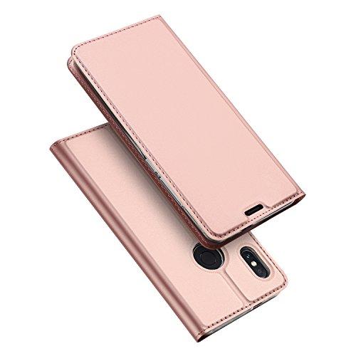 DUX DUCIS Xiaomi Redmi Note 5 Hülle,Flip Folio Handyhülle,Magnet,Standfunktion,1 Kartenfach,Ultra Dünn Schutzhülle für Xiaomi Redmi Note 5 (Rose Golden)