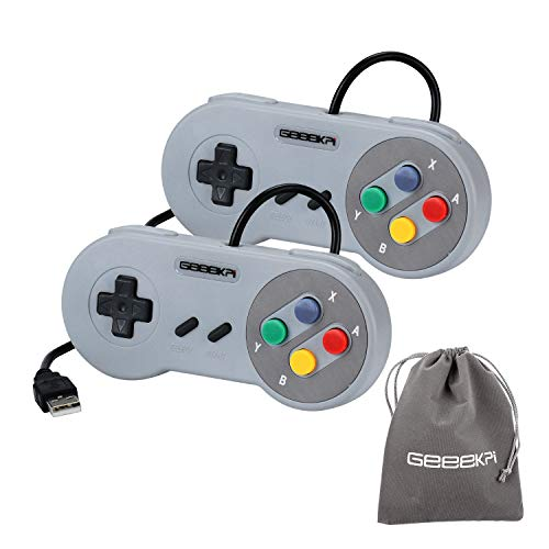 geeekpi 2/lot USB-Controller Game Pad Joypad Joystick für PC Raspberry Pi 3 Modell B retropie (Pc Snes Controler Für)
