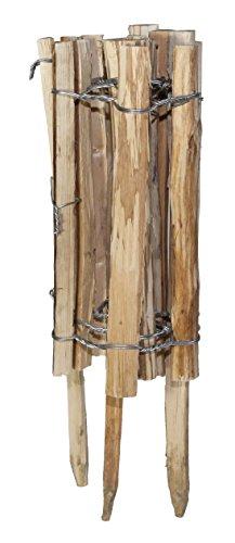 *Windhager Staketenzaun Gartenzaun natürlich und unbehandelt Beeteinfassung, Braun, 120 x 33/50 cm, 06908*