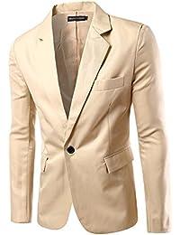Uomo Slim Fit Uomo Casual One Button Elegante Vestito di Affari Cappotto  Giacca Blazers Top Outwear df7dc886d33
