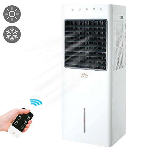 Bakaji Home Raffrescatore Caldo Freddo Ventilatore con Funzione Riscaldamento Umidificatore Ionizzatore d\'aria Air Cooler Raffreddamento ad Acqua Serbatoio 9,3 Lt DCG