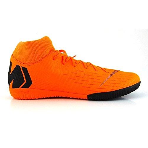 Nike Herren Mercurial SuperflyX VI Academy Indoor Fußballschuhe, Orange/Schwarz 810, 41 EU (Nike Mercurial Superfly Orange)