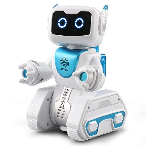 Fulltime E-Gadget Fernbedienung Roboter, Wasserkraft Interaktiver Automatische Lenkung Musikwissenschaft LED Spielzeug Geschenk RC Robot (Weiß)