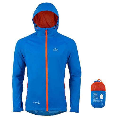 Highlander Herren Stow und GO Blue Packaway Jacket Regenjacke, Blau, XS