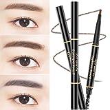 #5: Double-end Eyebrow Pencil Eye Brow Brush Eyeliner Makeup Cosmetic Pen Tool (Coffee)