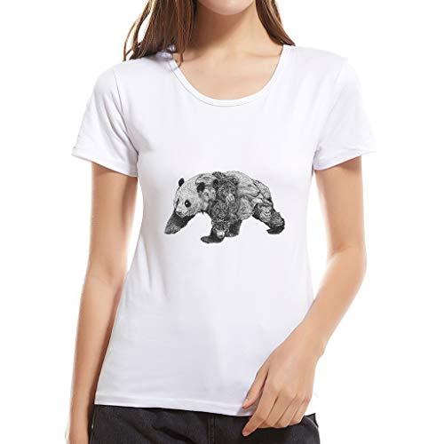 Bluse Damen Mädchen Cartoon Tier T Shirt Kurzarm T Shirt Aus Baumwolle Top (Damen Shirt Traktor)