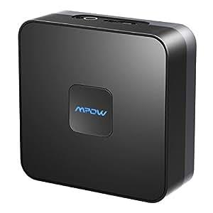 Ricevitore Bluetooth 4.1,Mpow Ricevitore Audio Auto Ricevitore Bluetooth Wireless Adattatore Audio con 3,5 mm Jack/RCA/Aux In per Auto/Altoparlanti/HI-FI Sistemi Stereo/Smartphone e altri Dispositivi[15 Ore di Utilizzo]