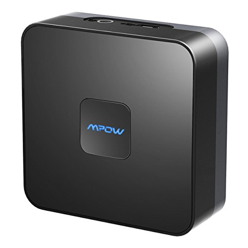 Mpow Receptor Bluetooth 4.1 Audio,HiFi Inalámbrico con Sonido Estéreo para TV y Batería Recargable Incorporada de 15 Horas para Altavoces, Auriculares, TV, PC, iPhone, Radio,Rca etc(Negro Clásico)