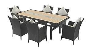 artelia esstisch set yamuna schwarz. Black Bedroom Furniture Sets. Home Design Ideas