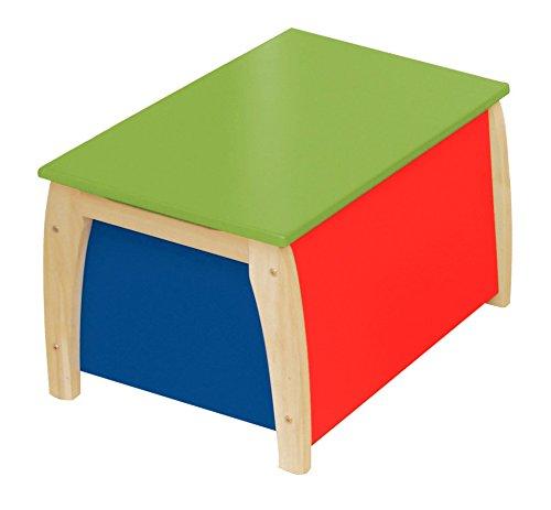 roba 50708 - Kindertruhe, Massivholz, Medium Density Fibreboard lackiert, Truhenfüllung f