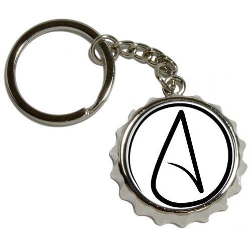 UNIVERSUM Atheist Symbol–vernickeltes Metall PopCap Flaschenöffner Schlüsselanhänger Ring