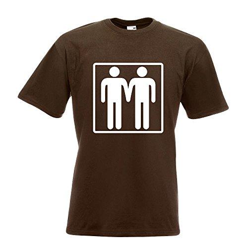 KIWISTAR - Schwul T-Shirt in 15 verschiedenen Farben - Herren Funshirt bedruckt Design Sprüche Spruch Motive Oberteil Baumwolle Print Größe S M L XL XXL Chocolate