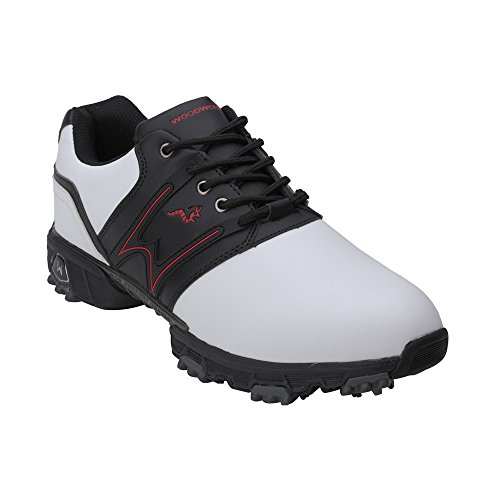 Woodworm Tour II Men Golf Shoes White/Black 6.5