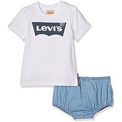 Levi's NJ37004, Ropa de Bautizo para Bebés, Blanc (Assortiment), 18 Meses