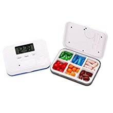 BrilliantDay Electronic Pill Timer-Reminder Automatic Medication Reminder Dispenser Pill Storage Box with Alarms Clock for The Elderly Kids Eat Medicine Timely#4