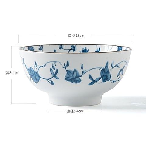 Kreative,blaue und weiße keramik,tisch/die reis-schalen/futternapf/dish dish/beilage/fisch/big bowl/salatschüssel/löffel/teller suppe-C
