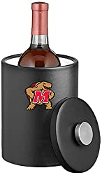 NCAA Maryland Terrapins Tall Leatherette Ice Bucket, 2-Quart, Black