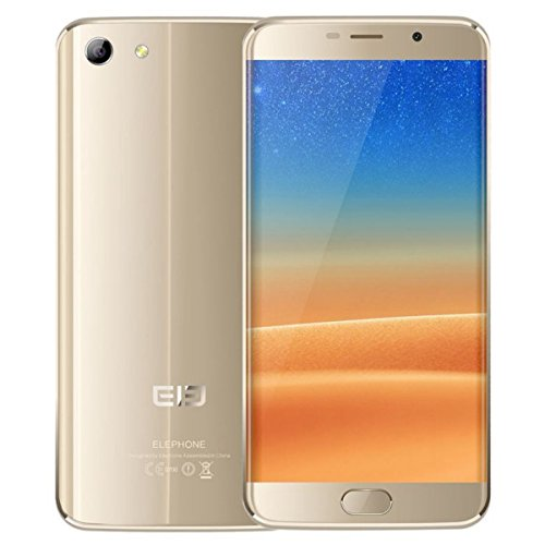 Elephone S7 - Smartphone libre Android  5 5   32 GB  3 GB RAM  4G  13 MP     5MP  Deca Core  Lector de huella  Dual SIM  Pantalla 3D   color Dorado