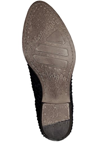 Stivali in pelle Tamaris in rettili finitura nera 1-25340-27 001 Nero Schwarz