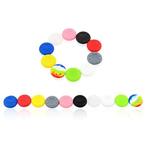 Super 10 Pairs X Analog Thumb Grip Stick Covers for PS4 / PS3 XBOX 360 / XBOX ONE Controller - Made of Silicone Rubber by Super Target 1