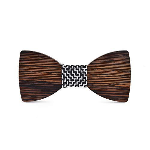 Styhatbag Dame Bow Ties Natürliche Walnuss-hölzerne Bogen-Krawatten Handcrafted hölzernes justierbares klassisches Bowties-Geschenk für Mens-Jungen-Smoking-Hochzeitsfest Pin Kragen Schmuck