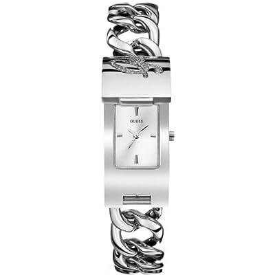 Guess W0321L1 - Reloj con correa de metal para mujer, color blanco / plateado