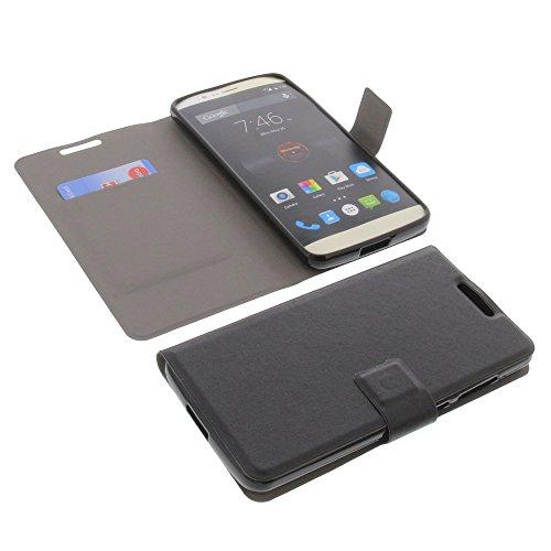 foto-kontor Tasche für Elephone P8000 Book Style Ultra-dünn Schutz Hülle Buch Schwarz