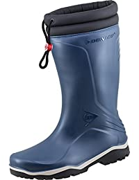 Dunlop Blizzard Warm Black Fleece Linned Padded Collar Wellington Boots