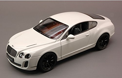 BENTLEY CONTINENTAL SUPERSPORTS 2010 WHITE 1:24 Welly Auto Stradali modello modellino die cast