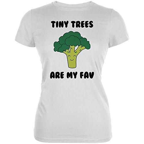 Gemüse Brokkoli kleine Bäume sind meine Lieblings lustigen Junioren weichen T Shirt White LG (T-shirt Weichen Baum)