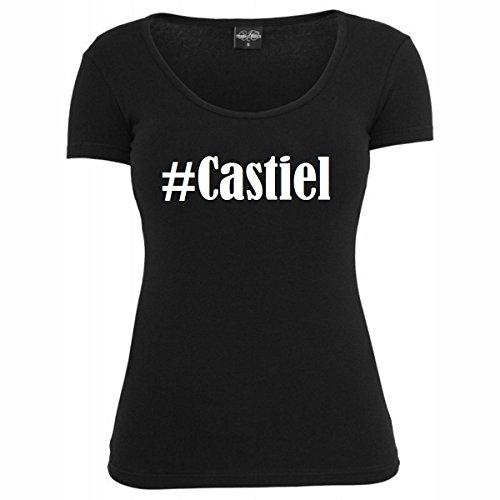 T-Shirt #Castiel Hashtag Raute für Damen Herren und Kinder ... in der Farbe Schwarz Schwarz