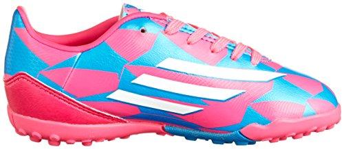 F10 TRX TF Enfants - Chaussures de Foot Rose Neon/Blanc/Bleu Solaire pink
