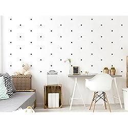 """I-love-Wandtattoo WAS-10095 - Set de pegatinas de pared para habitación infantil """"círculos en negro"""", 60 unidades, para pegar, adhesivos murales, decoración de pared"""