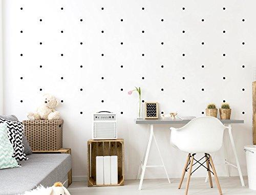 "I-love-Wandtattoo WAS-10095 Kinderzimmer Wandsticker Set ""Schwarze Kreise"" 60 Stück zum Kleben Wandtattoo Wandaufkleber Sticker Wanddeko"
