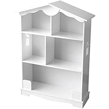 Childrenu0027s Kids Wooden Bookcase For Toys, Lovely White House Shelf Holder  Storage Organizer Display Units